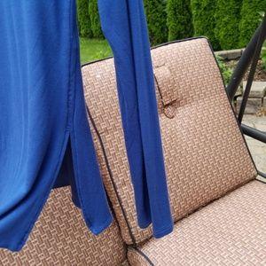 White House Black Market Tops - {WHBM} blue tunic (Small)